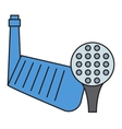 Golf putter and ball on white background vector image vector image
