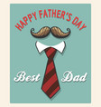 happy fathers day retro poster vector image