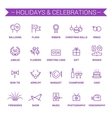 Holidays and celebrations Linear Violet vector image vector image