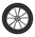 isolated wheel car on white background vector image