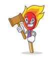 judge match stick mascot cartoon vector image vector image