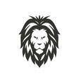 lion black icon isolated on white vector image vector image