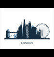 london skyline monochrome color vector image vector image