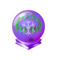 merry christmas magical crystal purple vintage vector image