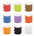 mugs vector image