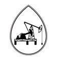 oil pumpjack derrick vector image