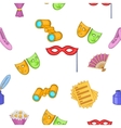 Performance pattern cartoon style vector image vector image