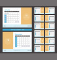 photo calendar 2019 ready to print vector image