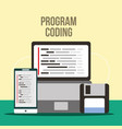 program coding website vector image vector image