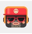 Rapper avatar Trendy gangsta squared vector image