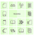 reading icons vector image vector image