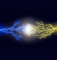 realistic 3d detailed forces gold and blue light vector image vector image