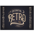 retro typeface font vector image vector image