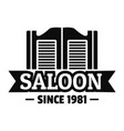 saloon door logo simple style vector image