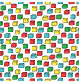 seamless pattern with colored cubes vector image vector image