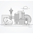 Seattle one line design vector image vector image