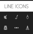 set of 6 editable equipment icons includes vector image vector image