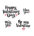 set of hand drawn lettering quotes vector image vector image