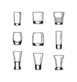 Set of stemware vector image vector image