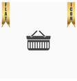 Shopping basket icon - vector image vector image