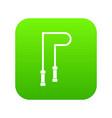 skipping rope icon digital green vector image vector image