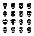 Skull tattoo glyph icons