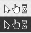 smooth cursors vector image vector image