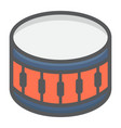 snare drum filled outline icon music vector image vector image