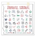 Social Media Icon and wordDoodle sketchy vector image