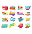 special offer banners for clearance sale event vector image vector image