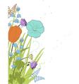 spring florals vector image vector image