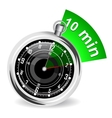 Stopwatch with bookmark vector image