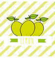 striped background with delicious fresh nature vector image