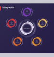 stylish colorful infographic circle chart vector image