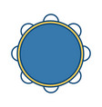 tambourine music instrument vector image vector image