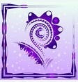 tender background with purple abstract flower on vector image