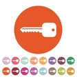 The key icon Key symbol Flat vector image vector image