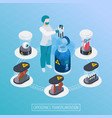 tissue transfer isometric composition vector image vector image