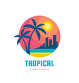 tropical summer holiday - concept business design vector image vector image