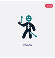 two color voodoo icon from magic concept isolated vector image vector image