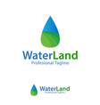 water land design template logo iconic symbols vector image vector image