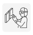 welder welding icon vector image vector image
