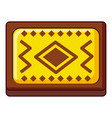 yellow and brown turkish carpet icon cartoon style vector image vector image