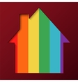 Abstract house background vector image