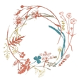 Wreath with meadows herbs vector image