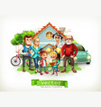 family father mother grandmother grandfather vector image