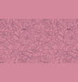 abstract continuous line seamless floral vector image