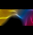 abstract futuristic colorful 3d wavy lines vector image vector image