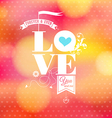 Abstract romantic card Soft blurry background vector image vector image