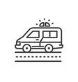 ambulance - line design single isolated icon vector image
